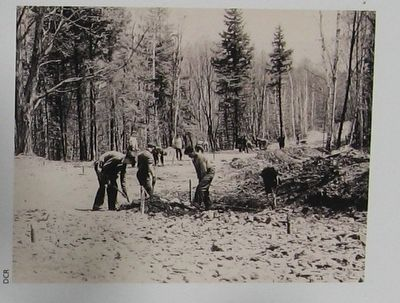 CCC Men Building the Road to the Summit image. Click for full size.