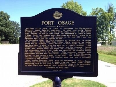 Fort Osage Marker image. Click for full size.