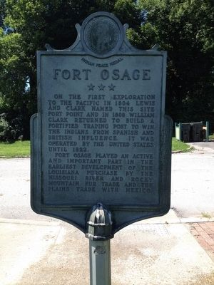Events at Fort Osage Marker image. Click for full size.