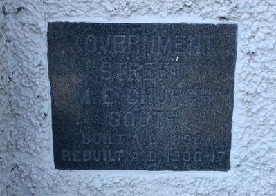 Old church cornerstone. image. Click for full size.