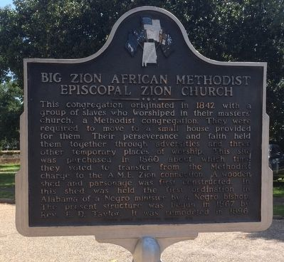 Big Zion African Methodist Episcopal Zion Church Marker image. Click for full size.