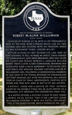 Robert McAlpin Williamson Marker image. Click for full size.