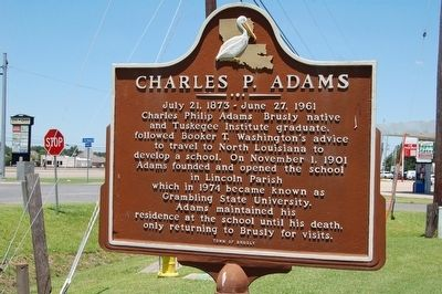 Charles P. Adams Marker image. Click for full size.