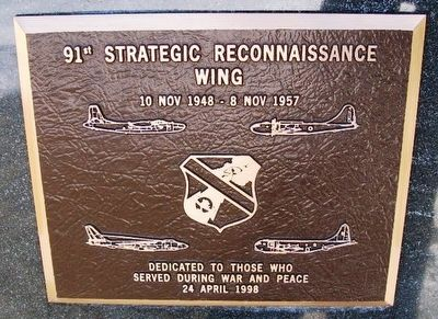 91st Strategic Reconnaissance Wing Marker image. Click for full size.