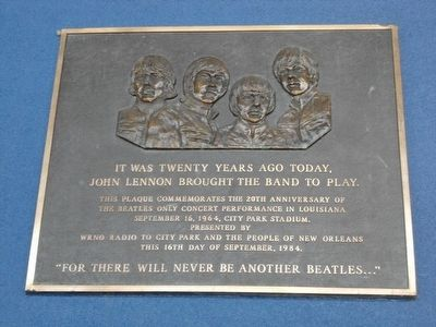 Beatles Only Concert Performance in Louisiana Marker image. Click for full size.