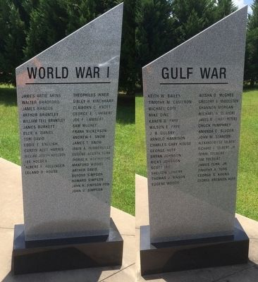 Those who served in WWI & the Gulf War image. Click for full size.