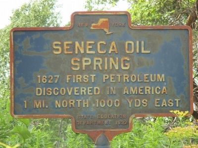 Seneca Oil Spring Marker image. Click for full size.