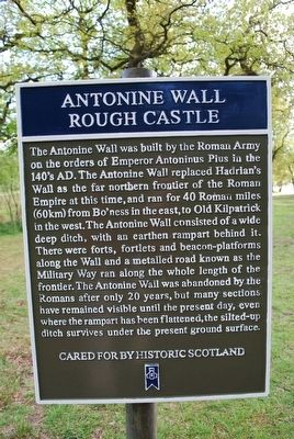 Antonine Wall Marker image. Click for full size.
