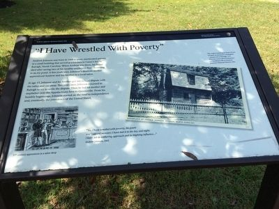 """I Have Wrestled With Poverty"" Marker image. Click for full size."