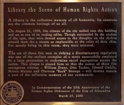 Library the Scene of Human Rights Action image. Click for full size.