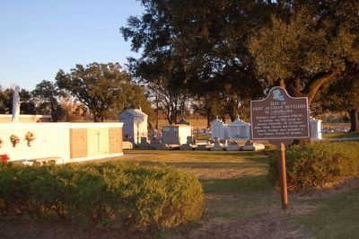Site of First Acadian Settlers in Louisiana Marker image. Click for full size.