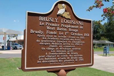 Brusly, Louisiana Marker (French side) image. Click for full size.