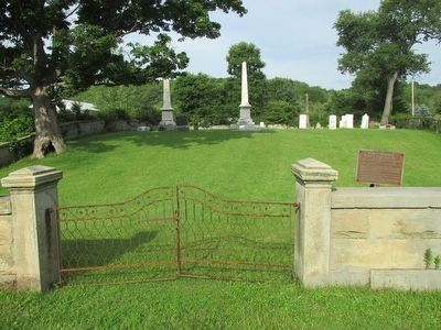 Peter T. Tenbroeck Marker & Cemetery Gate image. Click for full size.