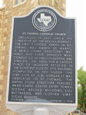 St. Thomas Catholic Church Marker image. Click for full size.