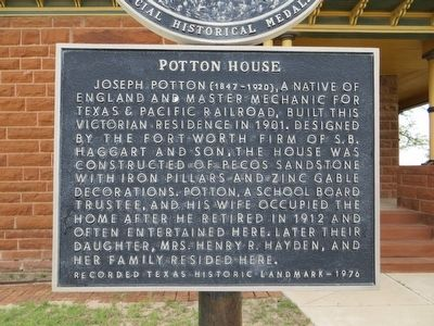 Potton House Marker image. Click for full size.