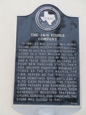 The J. & W. Fisher Company Marker image. Click for full size.