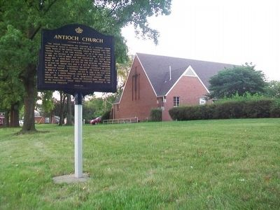 New Antioch Church and Marker image. Click for full size.