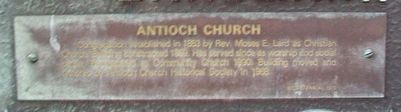 Antioch Church Marker image. Click for full size.