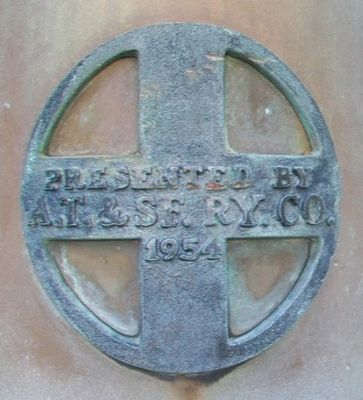 Detail on Santa Fe Locomotive Bell at Antioch Church image. Click for full size.