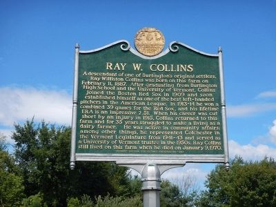 Ray W. Collins Marker image. Click for full size.