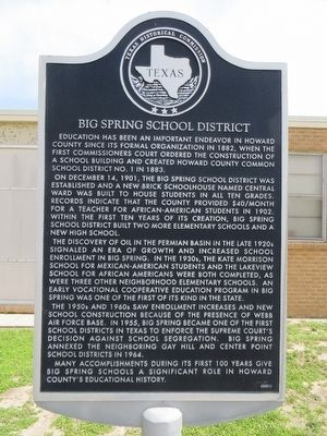 Big Spring School District Marker image. Click for full size.
