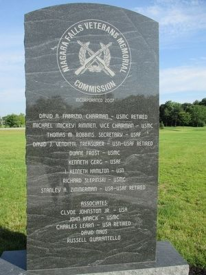 Niagara Falls Veterans Memorial Commission Tablet image. Click for full size.
