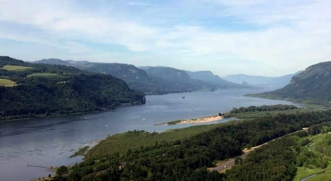 The Columbia River Gorge as Seen from Vista House image. Click for full size.