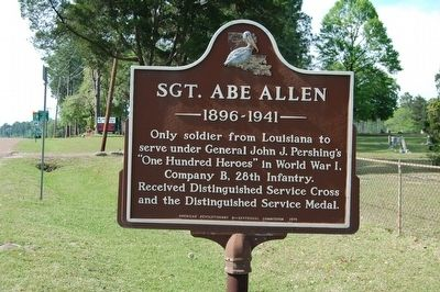 Sgt. Abe Allen Marker image. Click for full size.