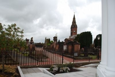 St Michaels Church and Churchyard from Mausoleum image. Click for full size.