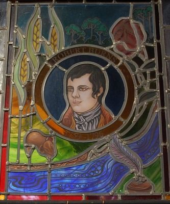 Robert Burns Stained Glass image. Click for full size.