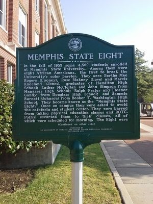 Memphis State Eight Marker image. Click for full size.
