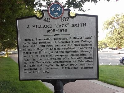 "J. Millard ""Jack"" Smith Marker image. Click for full size."