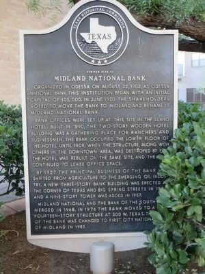 Former Site of Midland National Bank Marker image. Click for full size.