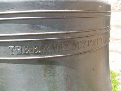 City of Corning Fire Bell Detail image. Click for full size.