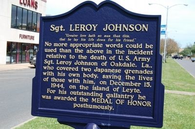 Sgt. Leroy Johnson Marker image. Click for full size.