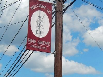 Street Banner-Welcome to Pine Grove Founded 1832 image. Click for full size.
