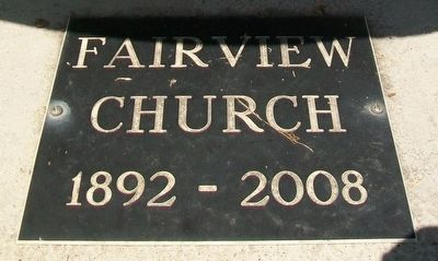 Fairview Church Marker image. Click for full size.