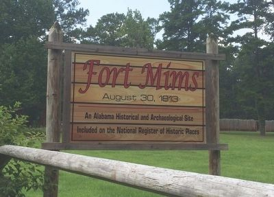Fort Mims sign image. Click for full size.