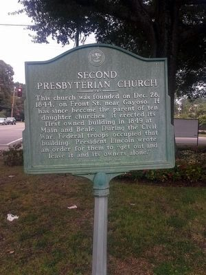 Second Presbyterian Church Marker image. Click for full size.