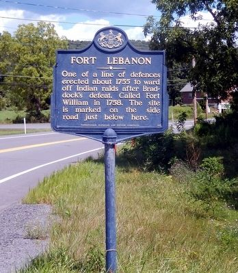 Fort Lebanon Marker image. Click for full size.
