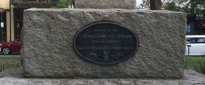Erected by Colonial Dames of Alabama image. Click for full size.