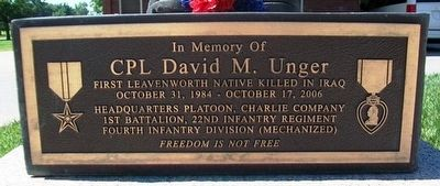 CPL David M. Unger Marker image. Click for full size.