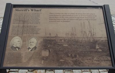 Merrill's Wharf Marker image. Click for full size.
