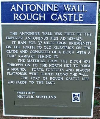 Antonine Wall Rough Castle Marker image. Click for full size.