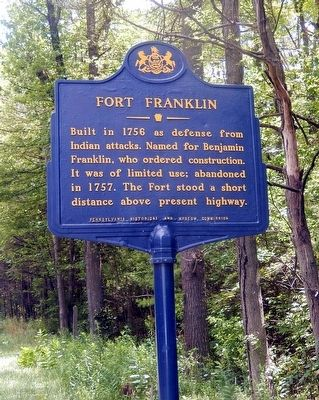Fort Franklin Marker image. Click for full size.