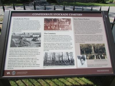 Confederate Stockade Cemetery Marker image. Click for full size.
