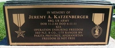 Jeremy A. Katzenberger Marker image. Click for full size.
