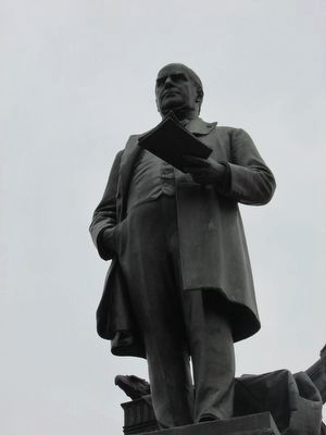 Closeup of McKinley Statue image. Click for full size.