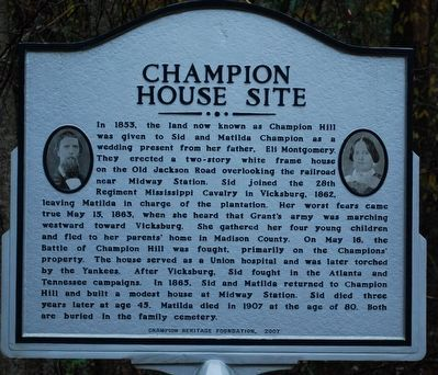 Champion House Site Marker image. Click for full size.