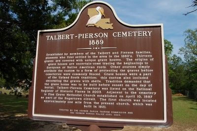 Talbert-Pierson Cemetery Marker image. Click for full size.